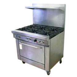 Southbend - 4361A - 400 Series 36 in Restaurant Range with 6 Burners & Convection Oven image