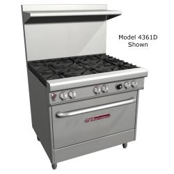 Southbend - 4361D-1G - 400 Series 36 in Restaurant Range with 4 Burners, Griddle & Standard Oven image