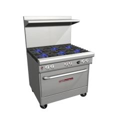 Southbend - 4363A - 400 Series 36 in Restaurant Range with 6 Star Saute Burners & Convection Oven image