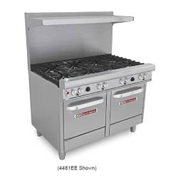 Southbend - 4481EE - 400 Series 48 in Restaurant Range with 8 Burners and 2 Standard Ovens image