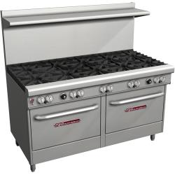 Southbend - 4601AA - 400 Series 60 in Restaurant Range with 10 Burners and 2 Convection Ovens image