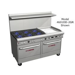 Southbend - 4601DD-2GL - 400 Series 60 in Restaurant Range with 6 Burners, Griddle and Standard Ovens image