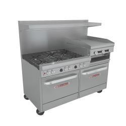 Southbend - 4601DD-2RR - 400 Series 60 in Range w/ 6 Burners, Griddle & Ovens image