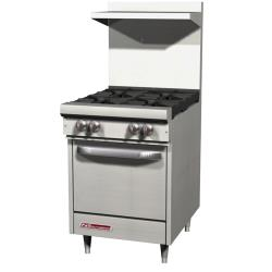 Southbend - S24E - S-Series 24 in Restaurant Range with 4 Burners and Standard Oven image