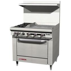 Southbend - S36D-1G - S-Series 36 in  Range with 4 Burners and 12 in Griddle image