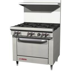 Southbend - S36D - S Series 36 in Restaurant Range with 6 Burners & Standard Oven image