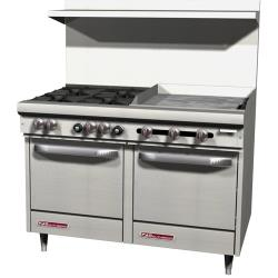Southbend - S48EE-2G - S-Series 48 in Restaurant Range with 4 Burners and 24 in Griddle image