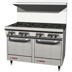 Southbend - S48EE - S-Series 48 in Restaurant Range with 8 Burners and Standard Ovens image