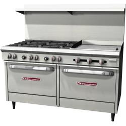 Southbend - S60DD-2G - 60 in 6-Burner S-Series Gas Range w/ Griddle and Standard Ovens image