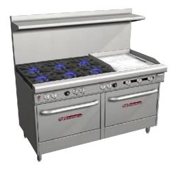 Southbend - S60DD-2G - S-Series 60 in Restaurant Range with 6 Burners and 24 in Griddle image