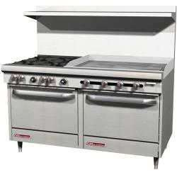 Southbend - S60DD-3G - S-Series 60 in Restaurant Range with 4 Burners and 36 in Griddle image