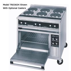 "Toastmaster - TRE36D1 - 36"" Range w/(3) Hot Tops & Deck Oven image"