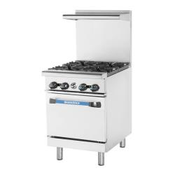 Turbo Air - TAR-4 - 24 in 4-Burner Radiance Series Gas Range w/ Standard Oven image