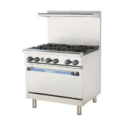 Turbo Air - TAR-6 - 36 in Restaurant Range w/ 6 Burners & Standard Oven image