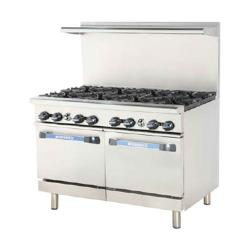 Turbo Air - TAR-8 - 48 in Restaurant Range w/ 8 Burners & (2) Standard Ovens image