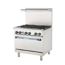 Turbo Air - TARG-12G4B - 36 in 4 Burner Gas Range w/12 in Left Side Griddle image