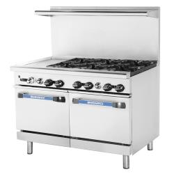 Turbo Air - TARG-12G6B - 48 in 6 Burner Gas Range w/12 in Left Side Griddle image