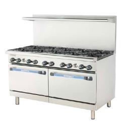 Turbo Air - TARG-24G6B - 60 in 6 Burner Gas Range w/24 in Left Side Griddle image