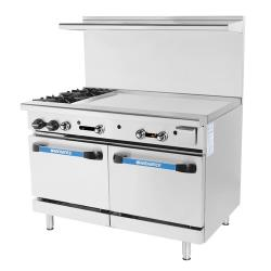 Turbo Air - TARG-2B36G - 48 in 2 Burner Gas Range w/36 in Right Side Griddle image