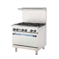 Turbo Air - TARG-4B12G - 36 in 4 Burner Gas Range w/12 in Right Side Griddle image