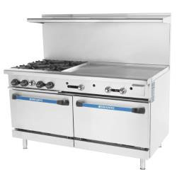 Turbo Air - TARG-4B36G - 60 in 4 Burner Gas Range w/36 in Right Side Griddle image