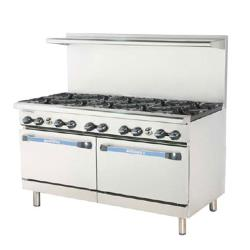Turbo Air - TARG-6B24G - 60 in 6 Burner Gas Range w/24 in Right Side Griddle image