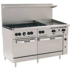 Vulcan Hart - 60SS-6B24G - 60 in 6-Burner Endurance Series Gas Range w/ Griddle and Standard Ovens image