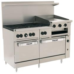 Vulcan Hart - 60SS-6B24GB - 60 in 6-Burner Endurance Series Gas Range w/ Griddle, Broiler and Standard Ovens image