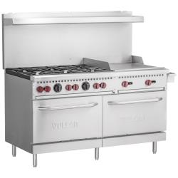 Vulcan Hart - SX60F-6B24G - 60 in 6-Burner SX-Series Gas Range w/ Griddle and Standard Ovens image