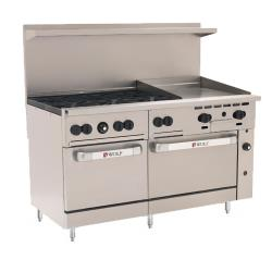 Wolf - C60SS-6B24G - 60 in 6-Burner Challenger XL Gas Range w/ Griddle and Standard Ovens image