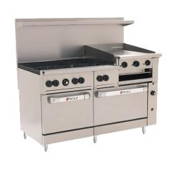 Wolf - C60SS-6B24GB - 60 in 6-Burner Challenger XL Gas Range w/ Griddle and Standard Ovens image