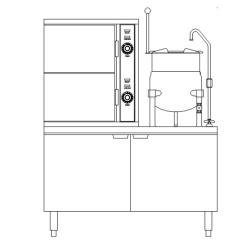 Southbend - SCX-2S-6 - 44 in 6 Pan Convection Steamer with  Steam Coil Base image