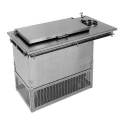 Glastender - DI-FR36-DW-FL - 2-Section Drop-in Ice Cream Freezer w/ Dipperwell image