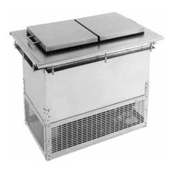 Glastender - DI-FR36-FL - 2-Section Drop-in Ice Cream Freezer w/Fliplid image