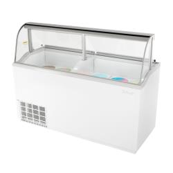 Turbo Air - TIDC-70W-N - 70 in White Ice Cream Dipping Cabinet image