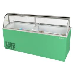 Turbo Air - TIDC-91G-N - 91 in Green Ice Cream Dipping Cabinet image