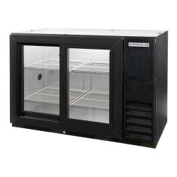 Beverage Air - BB48GSY-1-B - 48 in Glass Door Back Bar Cooler with Sliding Doors image