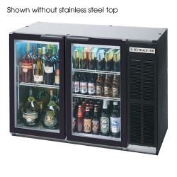 Beverage Air - BB48HC-1-G-B-27 - 48 in Glass Door Back Bar Cooler w/ S/S Top image