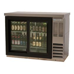 Beverage Air - BB48HC-1-GS-PT-S-27 - 48 in Glass Door Pass Thru Back Bar Cooler image