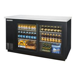 Beverage Air - BB58GS-1-B - 59 in Glass Door Back Bar Cooler with Sliding Doors image