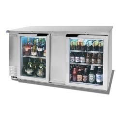 Beverage Air - BB68HC-1-G-S - 69 in S/S Glass Door Back Bar Cooler image