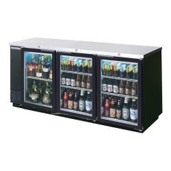 Beverage Air - BB78HC-1-G-B - 79 in Black Glass Door Back Bar Cooler image
