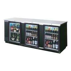 Beverage Air - BB94HC-1-G-B - 95 in Black Glass Door Back Bar Cooler image