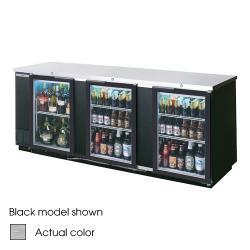 Beverage Air - BB94HC-1-G-S - 95 in S/S Glass Door Back Bar Cooler image