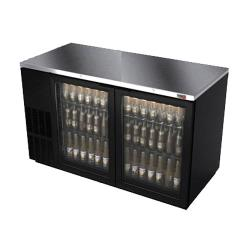 Fagor - FBB-59G - 59 1/2 in (2) Glass Door Black Back Bar image
