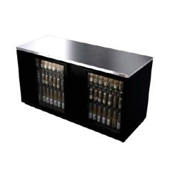 Fagor - FBB-59G - 59 1/2 in 2 Glass Door Black Back Bar image