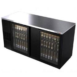 Fagor - FBB-69G - 69 1/2 in (2) Glass Door Black Back Bar image