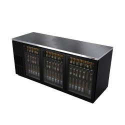 Fagor - FBB-79G - 80 in (3) Glass Door Black Back Bar image