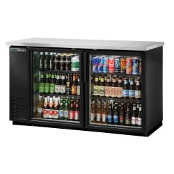True - TBB-24-60G-HC-LD - 61 in Back Bar Cooler w/ 2 Glass Swing Doors image
