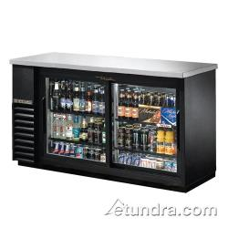 True - TBB-24-60G-SD-LD - 61 in Stainless Steel Back Bar Cooler w/ 2 Glass Doors image